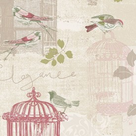 Colorful Birdcage Wallpaper
