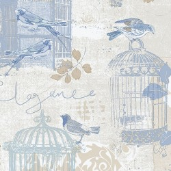 Decorative Birdcage Wallpaper