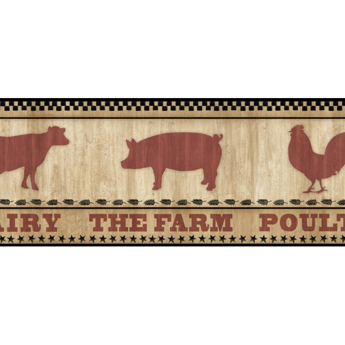 Ctr63131b Farmers Market Border Discount Wallcovering