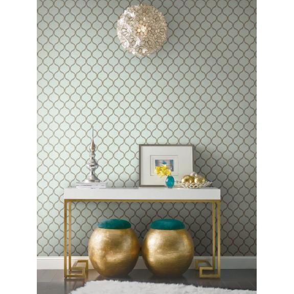 Dot Trellis Wallpaper