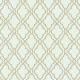 Metallic Hampton Trellis Wallpaper