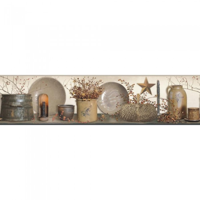 Ac4372bd Country Shelf Border Discount Wallcovering