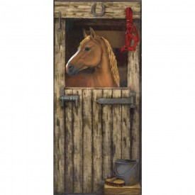 House In Stall Accent Mural