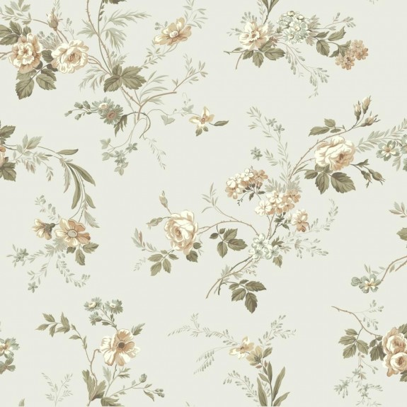Small Floral Trail Wallpaper
