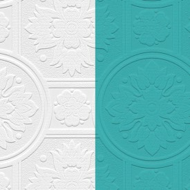 Paintable Medallion Texture Wallpaper