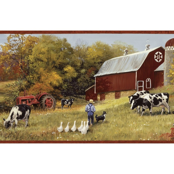 Bbc15031b Cow Pasture Border Discount Wallcovering