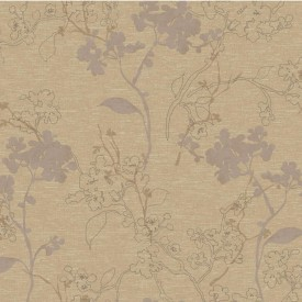 Raised Floral Branches Wallpaper