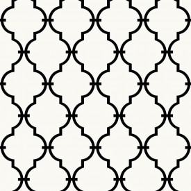 Peel & Stick Graphic Trellis Wallpaper