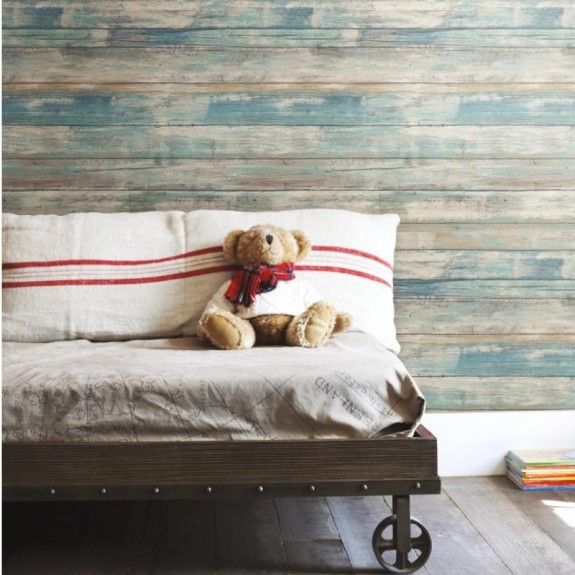 Peel & Stick Distressed Wood Wallpaper