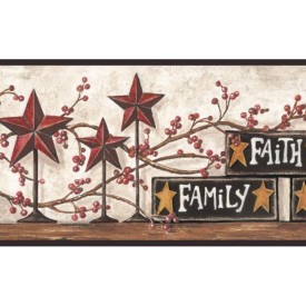 Stars & Blocks On Shelf Border