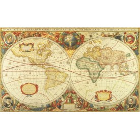 Antique World Map Mural