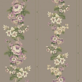 Wild Flower Stripe Wallpaper