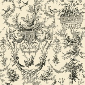 Old World Toile Wallpaper