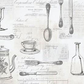 Kitchenware With Script Wallpaper