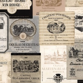 Vintage French Wine Labels Wallpaper