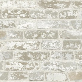 Stuccoed Brick Wall Wallpaper