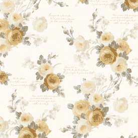 Magnolia Home Heirloom Rose Removable Wallpaper