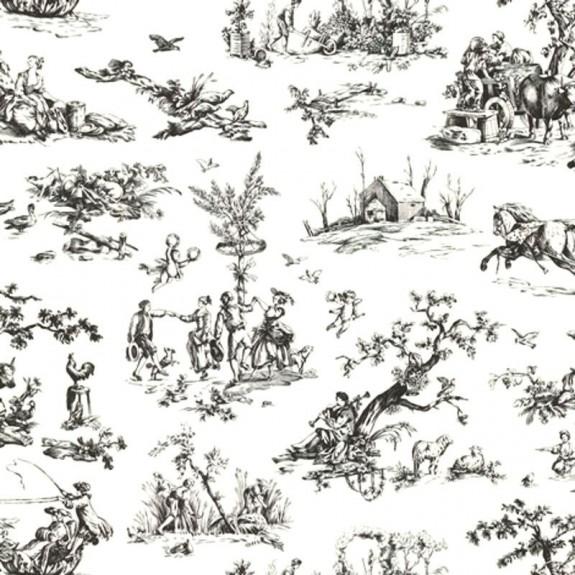 Scenic Toile Wallpaper
