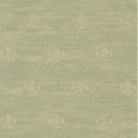 Distressed Fleur de Lis Wallpaper