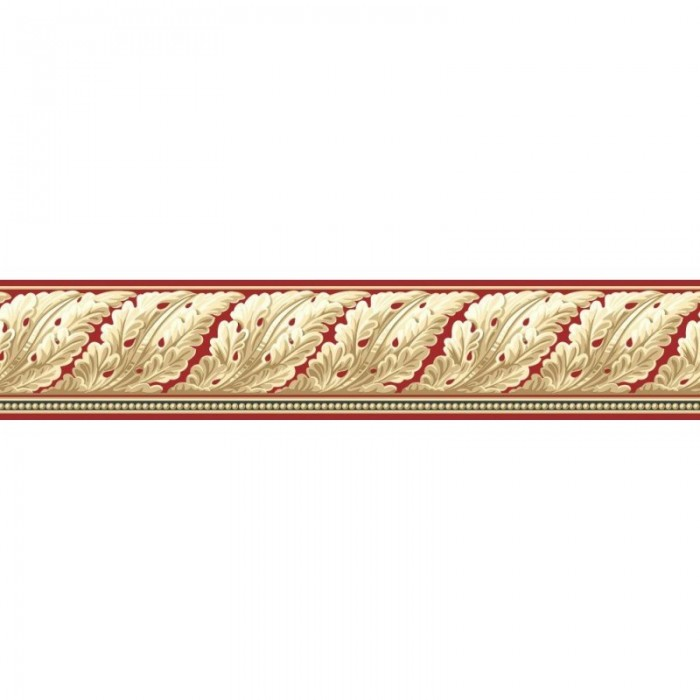 Kw7586b Red Acanthus Scroll Border Discount Wallcovering
