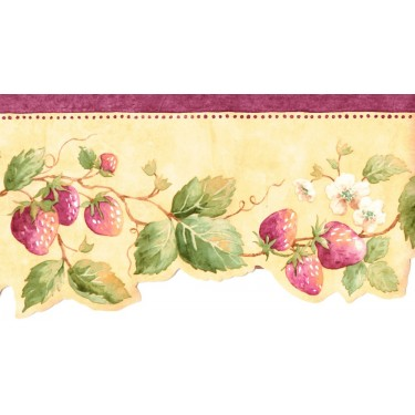 Strawberry Vine Die-cut Border