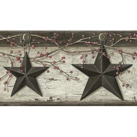 Rustic Barn Star Border