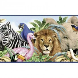 Jungle Animals Border