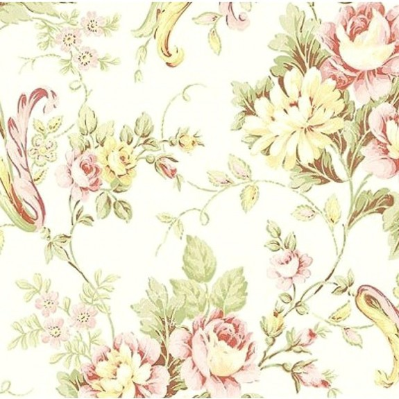 Cabbage Rose Trail Wallpaper