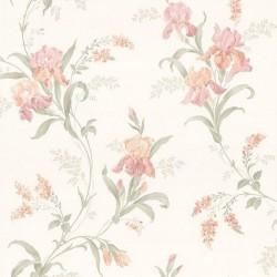 Satiny Climbing Iris Wallpaper