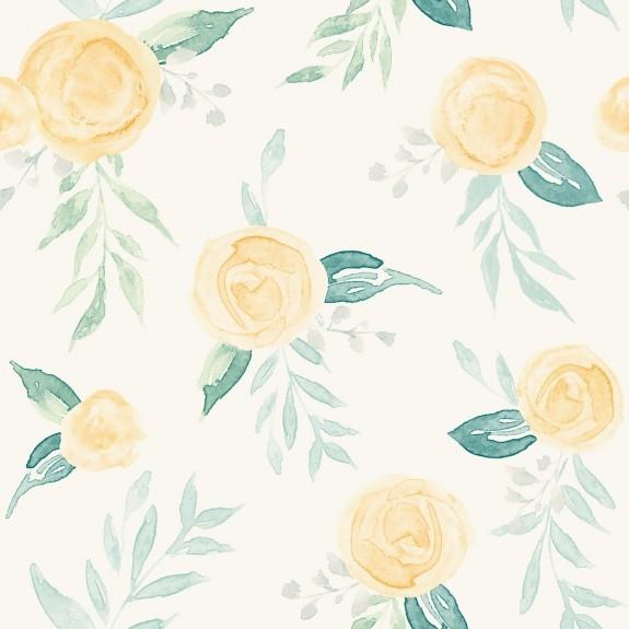 Watercolor Roses Wallpaper