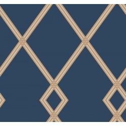 Ribbon Stripe Trellis Wallpaper