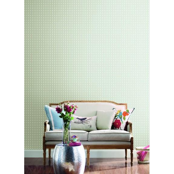 Rattan Overlay Lattice Wallpaper