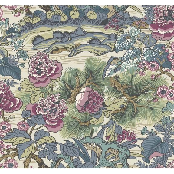 Dynasty Floral Branch Wallpaper