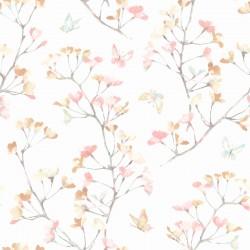 Watercolor Branch Wallpaper