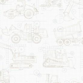 Construction Blueprint Wallpaper
