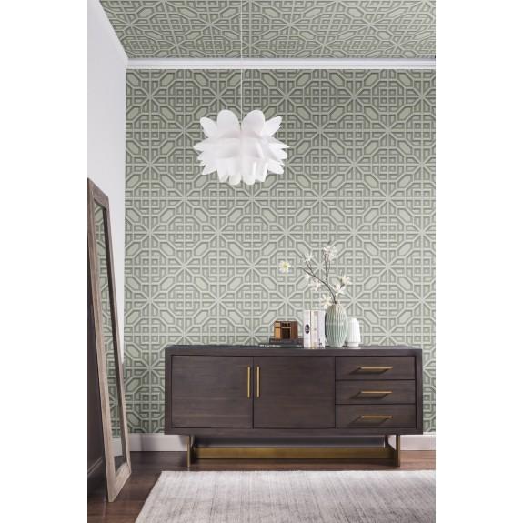 Asian Lattice Wallpaper