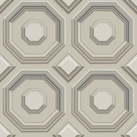 Coffered Octagon Wallpaper