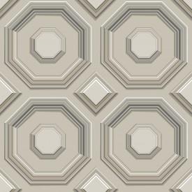 Coffered Octagon Wallpaper