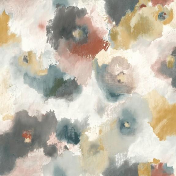 Impressionist Floral Wallpaper