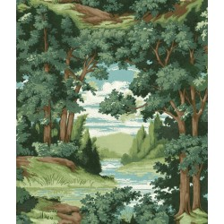Forest Lake Scenic Wallpaper