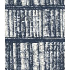 Library Bookshelf Wallpaper