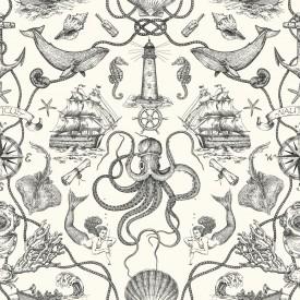 Deep Sea Toile Wallpaper
