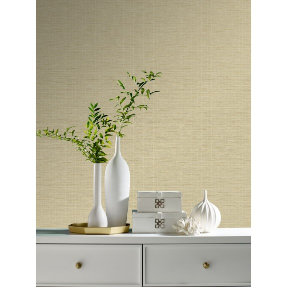 Weave with Pinstripe Wallpaper