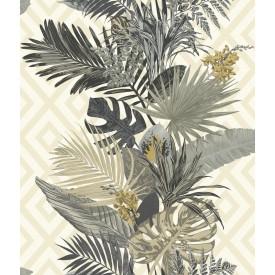 Tropical Oasis Stripe Wallpaper