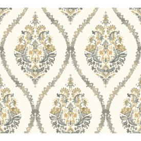 Waverly Garden Party Damask Wallpaper