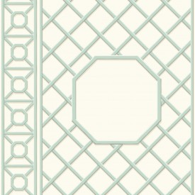 Waverly Garden Lattice Wallpaper