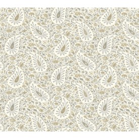 Waverly Paisley Verveine Wallpaper