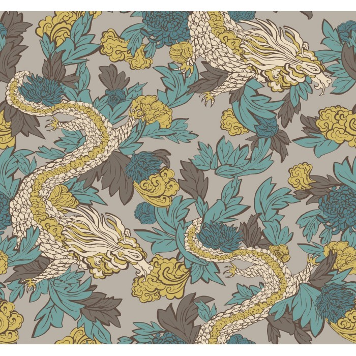 Dr6302 Ming Dragon Wallpaper Discount Wallcovering