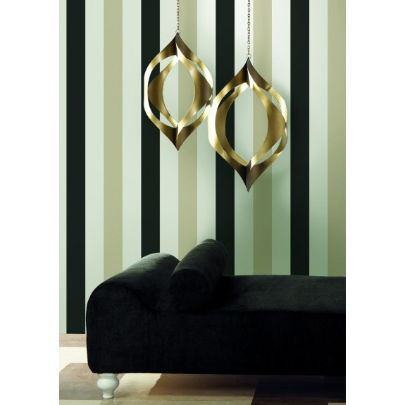 Ronald Redding Designs - Two Color Wide Stripe Wallpaper