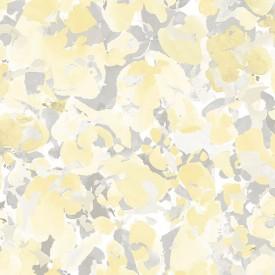 Bloom Wallpaper in Yellow & Grey